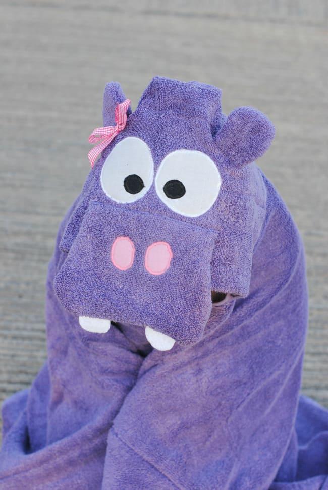 A Homemade Christmas Gift: Hippo Hooded Towel