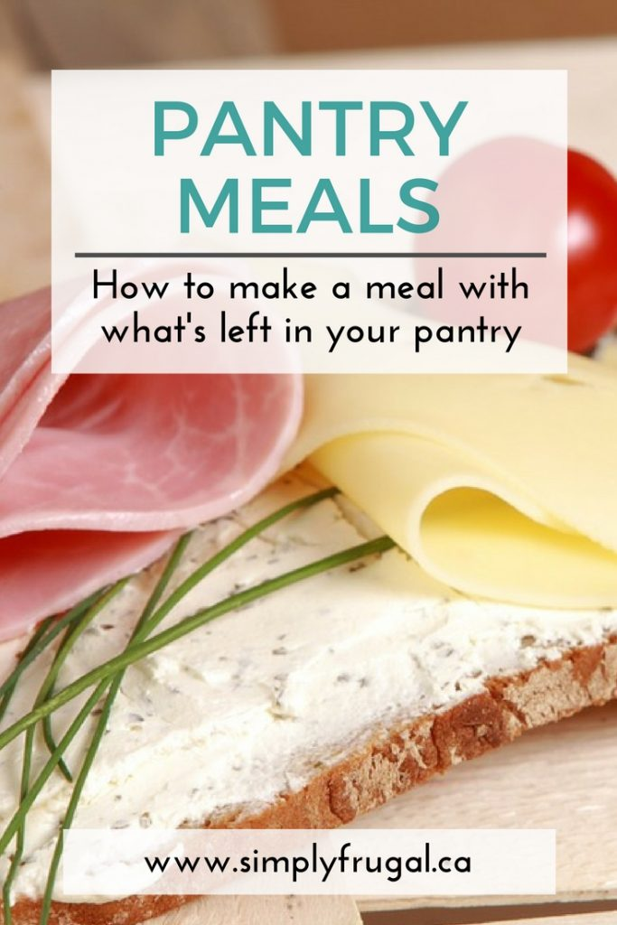 How to Make a Meal With What's Left in Your Pantry. Grocery saving tips.