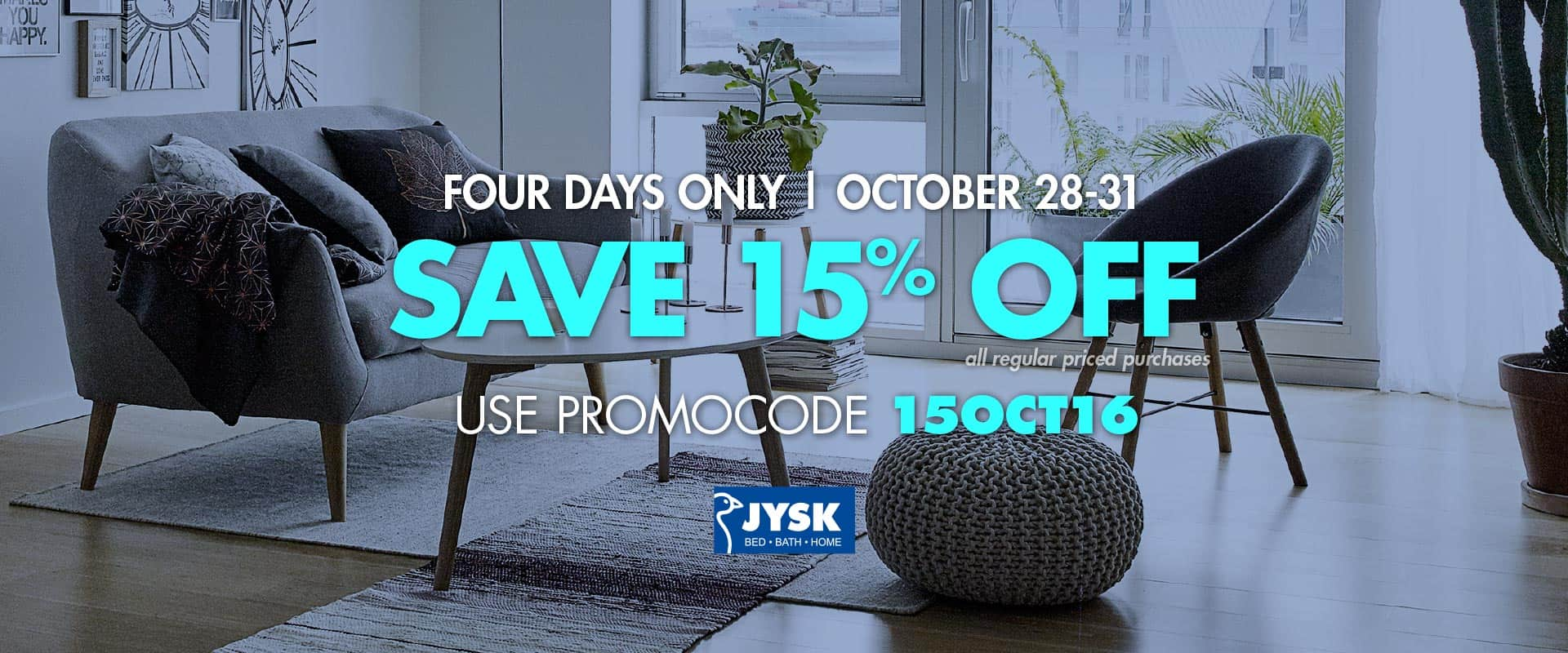 JYSK Flash Sale: Save 15% off All Regular Price Items