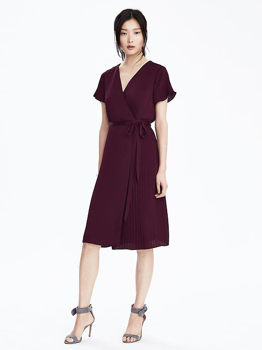 Pleated Wrap Dress from Banana Republic only $42 (reg. $170)