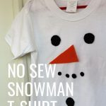 It's festive, ridiculously easy to put together and the kids are sure to love this No Sew Snowman T-Shirt!