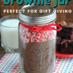 This Peppermint Brownie Jar is the perfect Homemade Christmas Gift idea for party hosts or those that love consumable gifts.