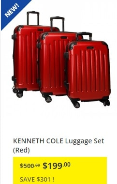 JYSK: Kenneth Cole 3-Piece Luggage Set only $199