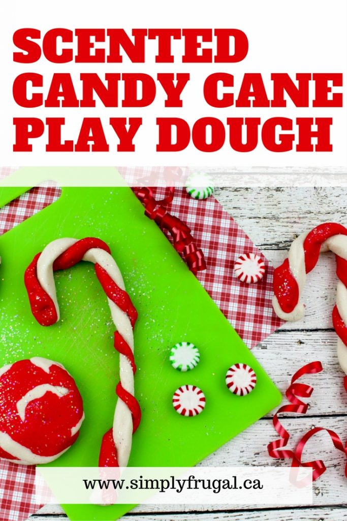 Easy to make Candy Cane Play Dough