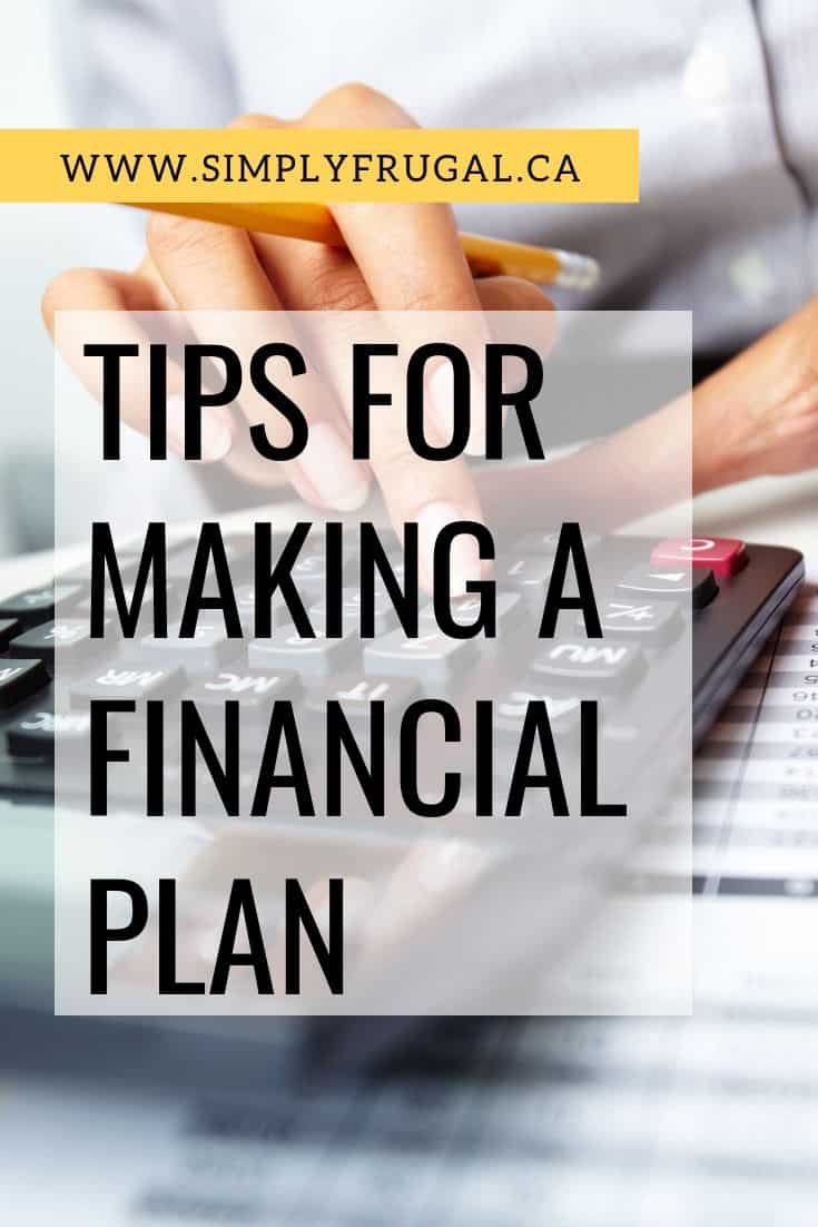 No matter what time of year it is here are 6 tips for making a financial plan. | Money saving tips