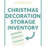 Christmas Decoration Storage Inventory Printable