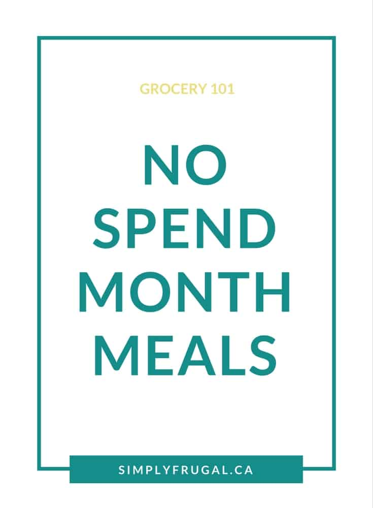 No Spend Month Meals