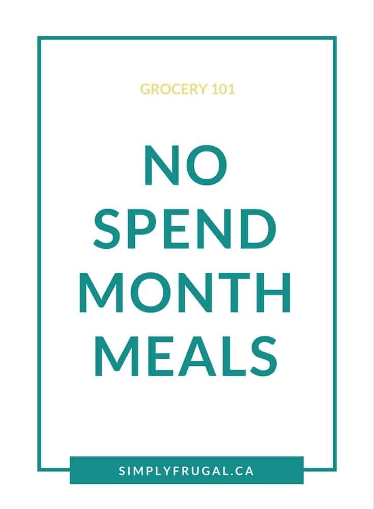 No Spend Month Meals