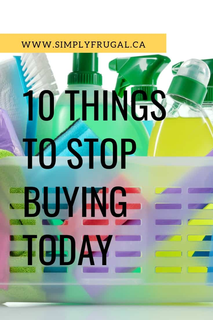 We all need to save money these days. It feels like the value of a dollar gets smaller by the day! These everyday items you can stop buying and easily replace with less expensive options and even help out the planet in the long run. #moneysavingtips #moneytips #simplyfrugal #frugalliving