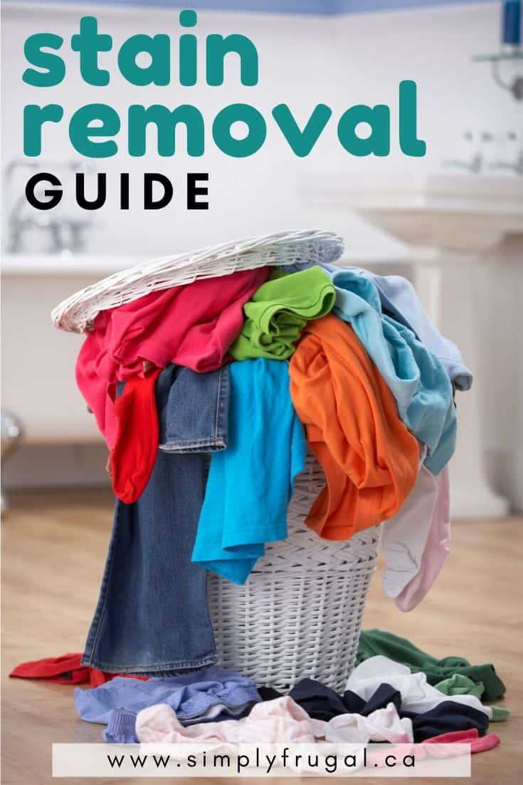 This stain removal guide has everything you need to know about treating common stains! #cleaningtips #stainremoval