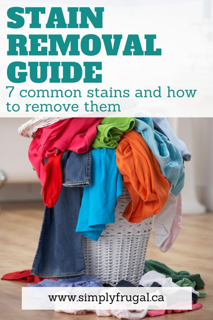 Stain removal guide. 7 Common Stains and How to Remove Them. #cleaningtips