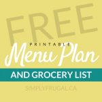 Free Printable Menu Plan and Grocery List #6
