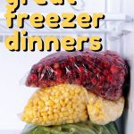 You can help tame the dinner time madness with these tips for great freezer dinners! #freezercooking #freezermeals