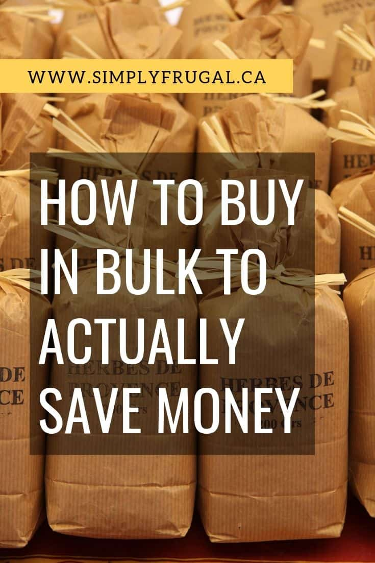 Sadly sometimes our best intentions to save money by purchasing in bulk, costs us more money than we intended. The good news is, all of those great intentions can pay off and you can buy in bulk to save money with a little planning and know-how. Here is how to buy in bulk to actually save money.