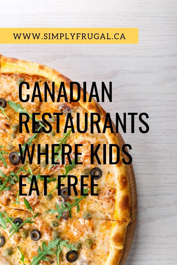 Where kids eat free in Canada