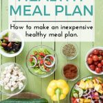 How to Make an Inexpensive Healthy Meal Plan