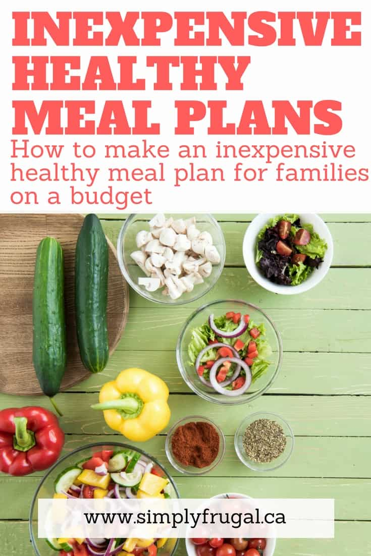 How to make an inexpensive healthy meal plan for families on a budget.  #mealplanning #mealplan #menuplanning #grocerytips