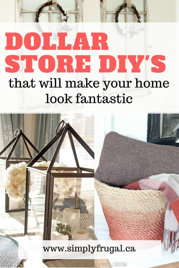 If you want that Instagram-perfect house without the price tag, check out these Dollar Store DIY's! These home decor hacks will take your home to the next level.  #dollarstorediy #dollarstore #homedecor #homedecorhacks #homedecordiy