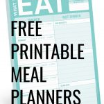 Up your meal planning game with these 7 free printable weekly meal planners that will knock your socks off.