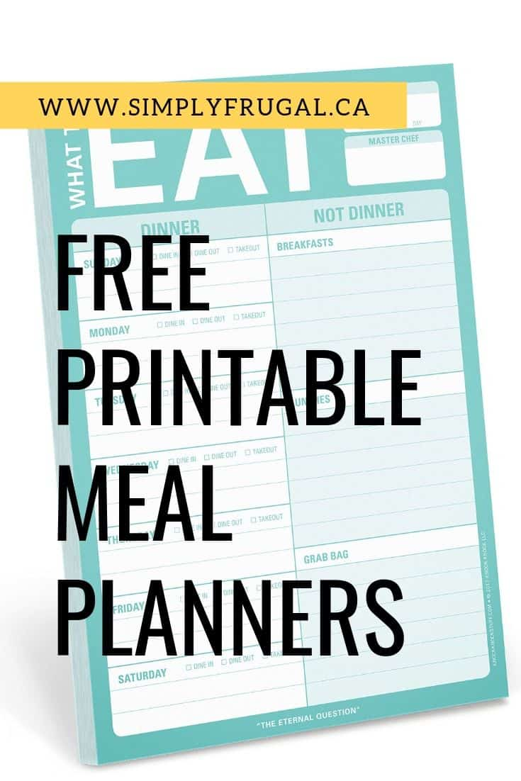 Organize your meal plans with these 7 free printable weekly Meal Planners that will knock your socks off!