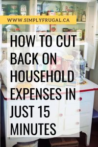 Look at these tips on how to cut back on household expenses in just 15 minutes, so you can free up some cash and find some relief from living paycheck to paycheck.