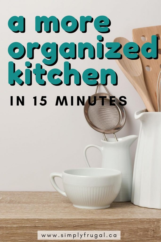 These quick 15 minute tasks will leave you with a more organized kitchen in no time at all! Spend some time each day working on one task.