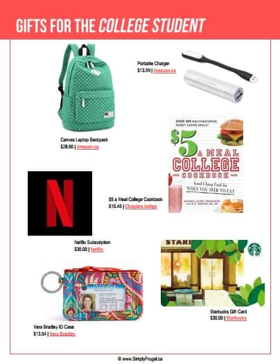 Gift ideas for the college student #giftideas