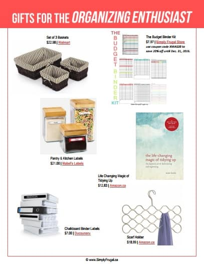 Gift Ideas for the Organizing Enthusiast. $30 or less!