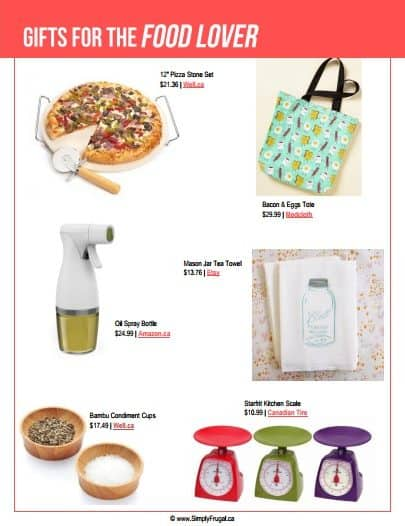 Gift Ideas for the Foodie. $30 or less!