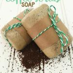 Homemade Christmas Gift: Coffee Scrub Soap