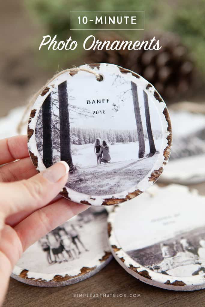 A Homemade Christmas Gift: 10 Minute Photo Ornaments