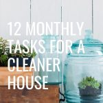12 Monthly Tasks for a Cleaner House