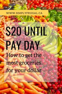 Only have $20 left until pay day but still have grocery shopping to do? I love these tips for stretching the grocery budget as far as you can!