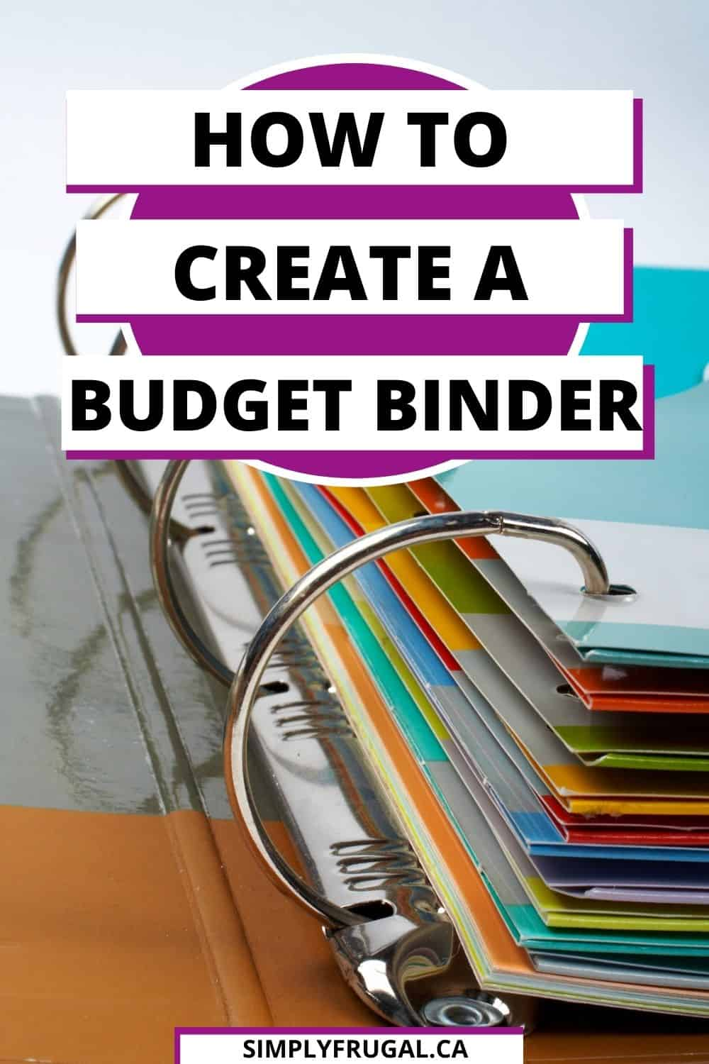 How to create a budget binder