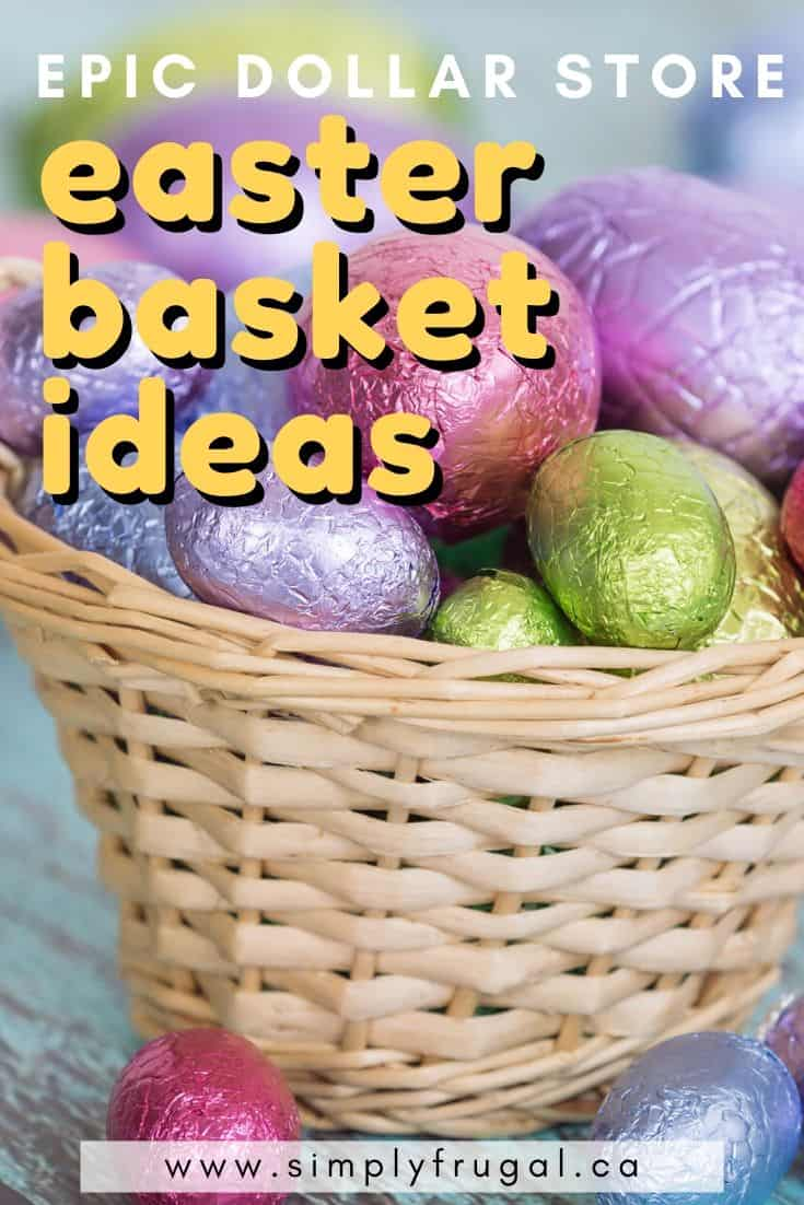 Easter is rapidly approaching, which means you have to put together an awesome Easter basket. On a budget? No worries because the Dollar Store is an awesome place to put together an epic Easter Basket. Here's how to do it with items from the dollar store!