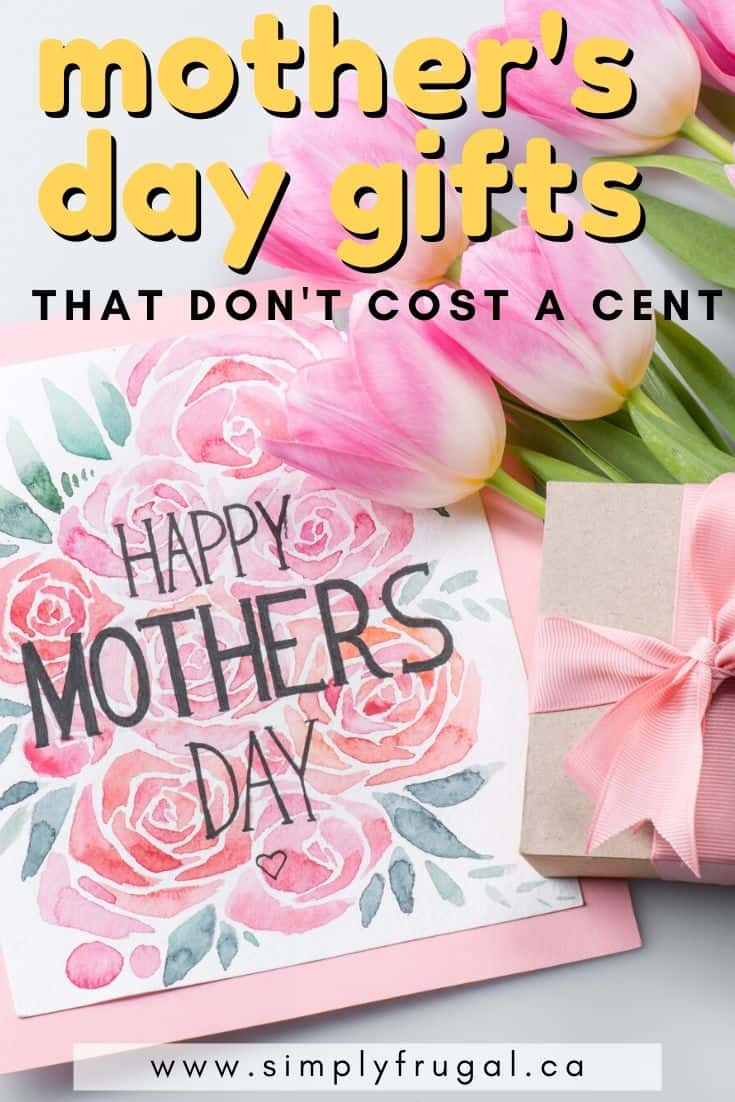 Mother's Day Gifts that don't Cost a Cent! It really is the thought that counts!