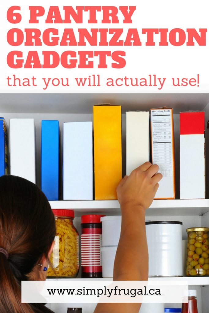 These 6 pantry organization gadgets are ones you will actually use to bring order to your pantry once and for all! These pantry organization ideas are perfect for any space.