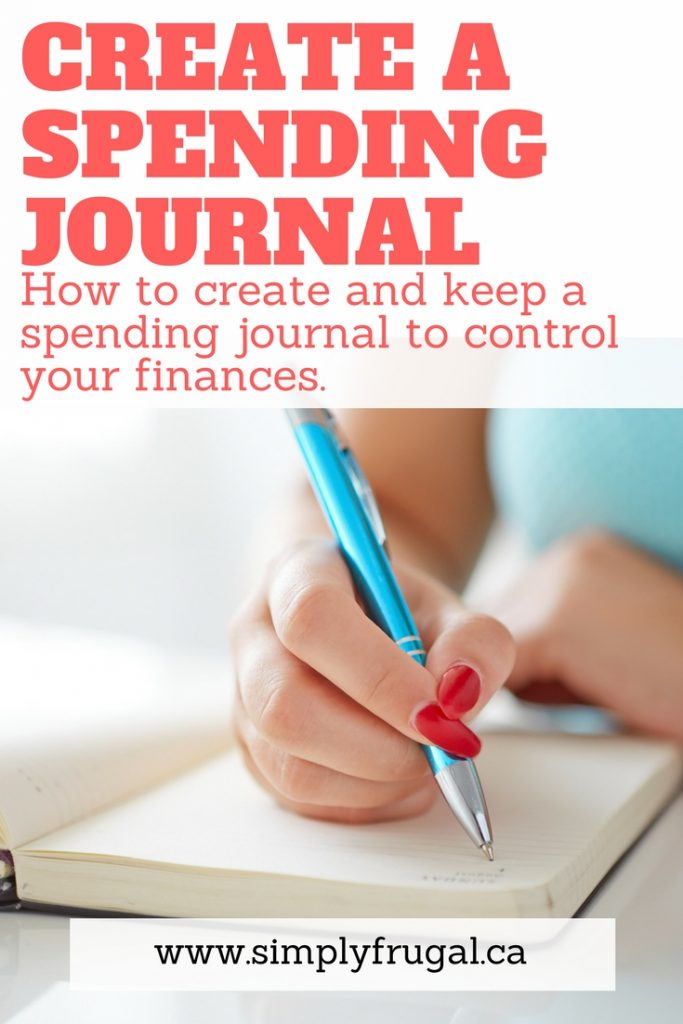 How to create and keep a spending journal to control your finances.