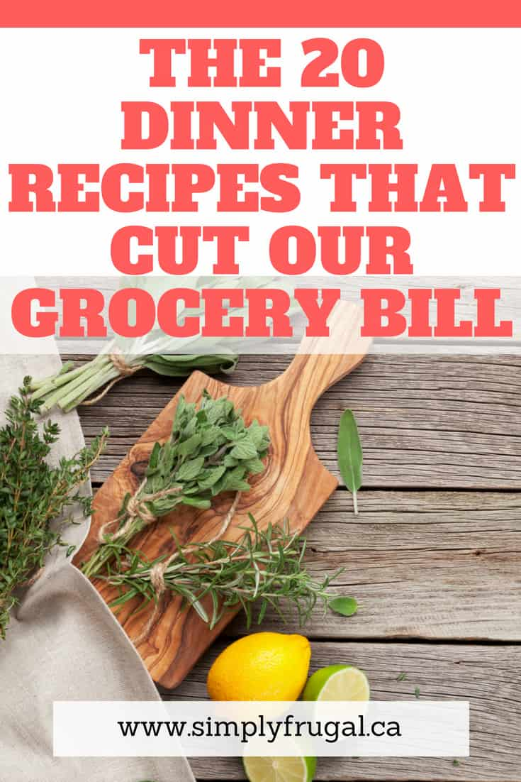 The 20 Family Dinner Recipes that Cut our Grocery Bill. #mealplanning #menuplanning #dinnerideas #easydinner