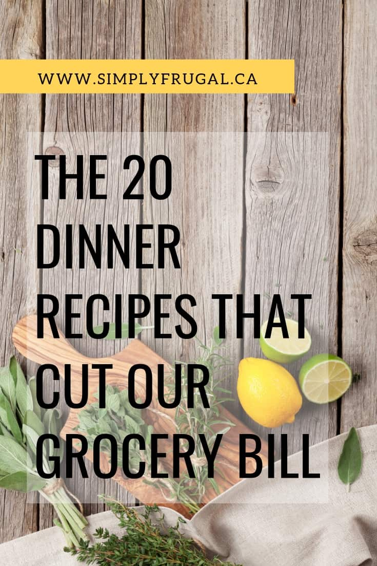 If you want to finally stop wasting money on groceries, I'd encourage you to grab some inspiration from our go-to recipe list. #mealplanning #menuplanning #dinnerideas #easydinner