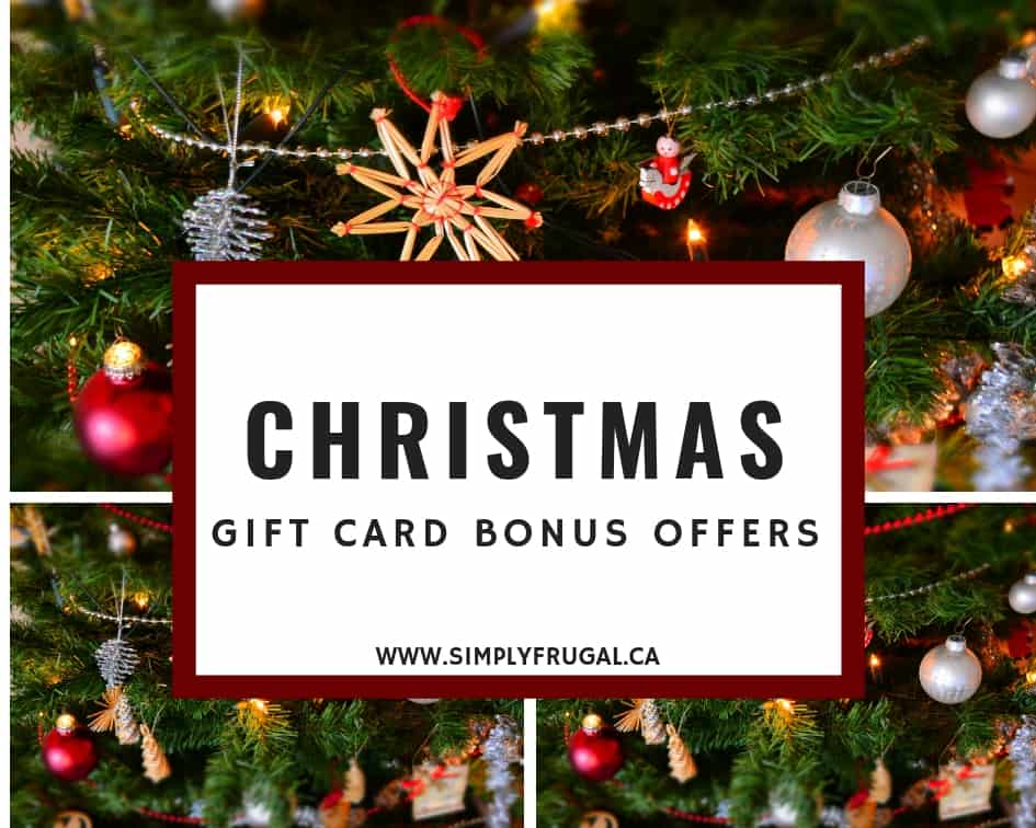 Shop at these places if you're looking for a Christmas Gift Card Bonus Offer!