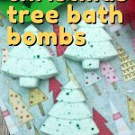 These Christmas Tree bath bombs are deliciously scented and can be made in just a few minutes, even by beginners!