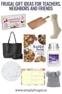 Frugal Gift Ideas for Teachers, Neighbors and Friends #giftguide #giftideas