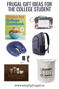 Frugal Gift Ideas for the College Student. $30 or Less!