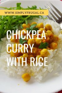 You have got to try this Chickpea Curry with Rice. It is so delicious and perfect for picky eaters and those with food sensitivities. #vegan #curry