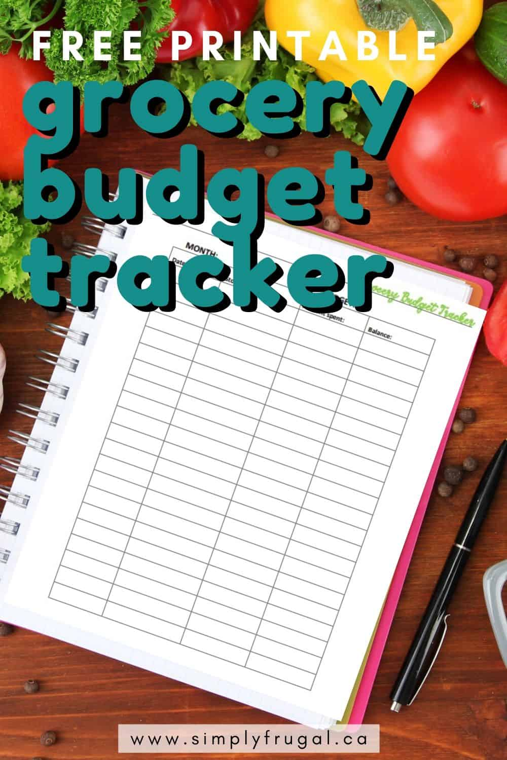 Get your free printable Grocery Budget tracker!