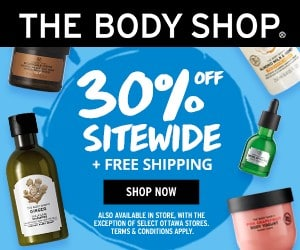 The Body Shop Canada sale