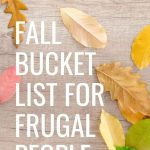 Fall Bucket List for Frugal People