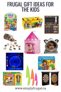 Frugal Gift Ideas for Kids of all ages! $30 or less!
