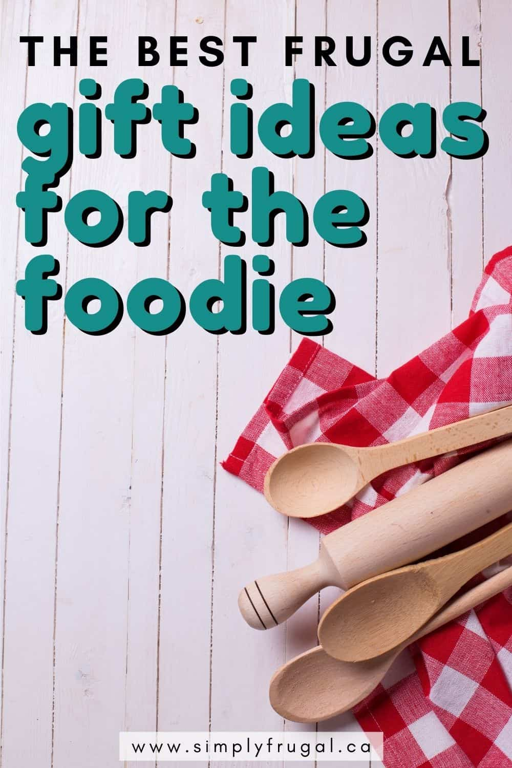 These frugal gift ideas for the Foodie are amazing ideas for just about anyone! Whether you're looking for stocking stuffers or a bigger gift for a loved one, these foodie gift ideas are sure to please!